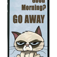 Grumpy Cat Funny Grumpy Morning iPhone 6 plus Cases - Hard Plastic, Rubber Case