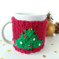 Christmas Mug Cozy - Coffee Cozy - Coworker Gift Exchange - Office Secret Santa Gift - Coffee Cup Warmer - Cup Cozy - Coffee Cup Sleeve