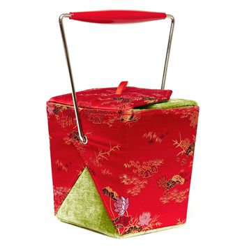 Chow Time Silk Takeout Purse - Red