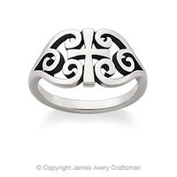 Scroll Cross Ring from James Avery