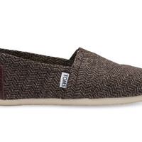 BROWN CHEVRON WOOL WOMEN'S CLASSICS