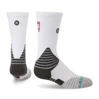 Stance Fusion Basketball 559 NBA NWT White Solid Crew Socks Medium 6-8.5 $22
