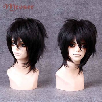 Black Short Hair Cosplay Party Synthetic Hair Vogue Sexy Unixex Cosplay Anime Wigs