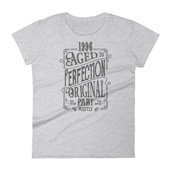 Women's 1996 Birthday Gift, Vintage Born in 1996, 21st Birthday shirt for her, Made in 1996 T-shirt, 21 Year Old Birthday