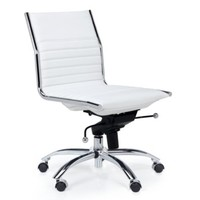 Malcolm Armless Chair - White | Office Chairs | Office | Furniture | Z Gallerie