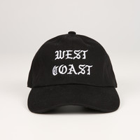 The West Coast Dad Hat in Black