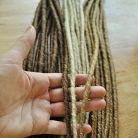 Dreadlock Extensions Pencil Thin - 50 individual dreads (full head) - Single Ended and Backcombed for an authentic look