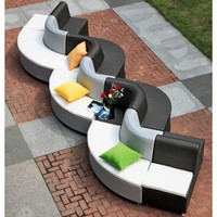 Black and White Wicker Sofa Set | TOS-GW3005SET | Tosh Furniture