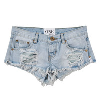 One Teaspoon Trashwhore cut-off shorts in Brando