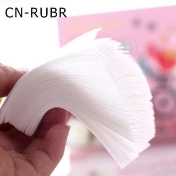 DCCKKFQ CN-RUBR 300pcs/Lot Woemen Face Wipes Cotton Fashion Nail Polish Remover Wipes Mini Portable Makeup Face Cleansing Pads