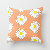 Daisy Throw Pillow by Ashley Hillman
