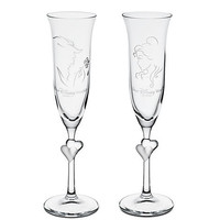 Disney Personalizable Beauty and the Beast Glass Flute Set by Arribas -- 2-Pc. | Disney Store