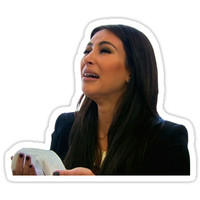'kim k crying poor girl' Sticker by Rad Merch