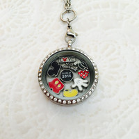 Disney inspired Graduation class of 2016  stainless steel memory locket with choice of stainless steel chain