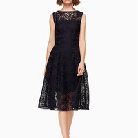 lace fit and flare dress | Kate Spade New York