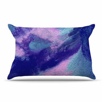 """Ashley Rice """"AC4"""" Abstract Blue Pillow Case"""