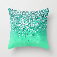 Silver II Throw Pillow by Rain Carnival
