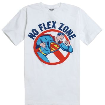 Superman Superman No Flex Zone T-Shirt - Mens Tee - White