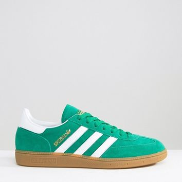 adidas Originals Spezial Trainers In Green S81822 at asos.com