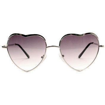 GYPSY WARRIOR - Heart Sunglasses - Silver