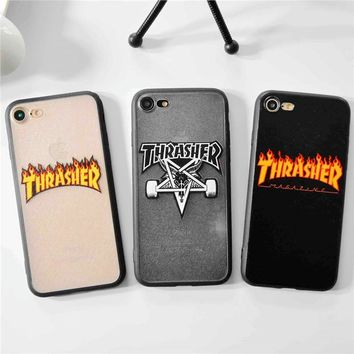 Compatible with iPhone Brand Simple Fire Words Sports Hard Case