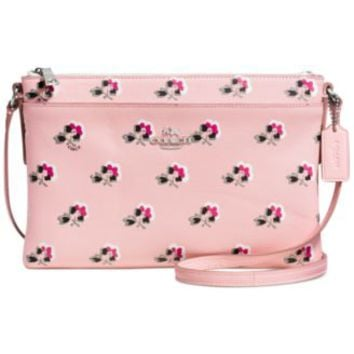 COACH JOURNAL CROSSBODY IN FLORAL PRINTED LEATHER | macys.com
