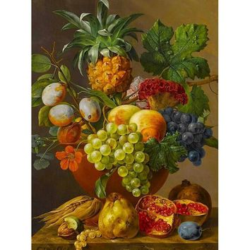 Coloring by numbers gift Digital Oil Painting On Canvas painting by numbers decorative picture Abstract still life of fruit w160