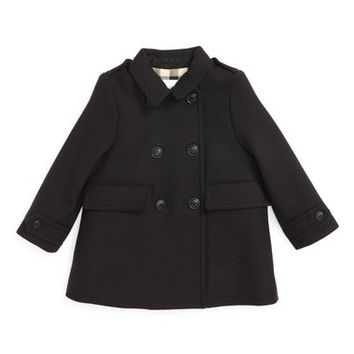 Burberry 'Gwendolina' Wool Blend Peacoat (Baby Girls) | Nordstrom