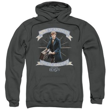Fantastic Beasts - Newt Scamander Adult Pull Over Hoodie Officially Licensed Apparel