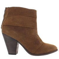 Steve Madden Arrena - Brown Suede Back Zipper Bootie