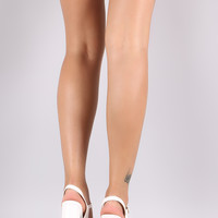 Delicious Ankle Strap Chunky Platform Heel