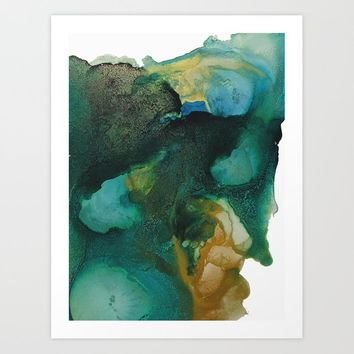 Green and Gold Art Print by duckyb