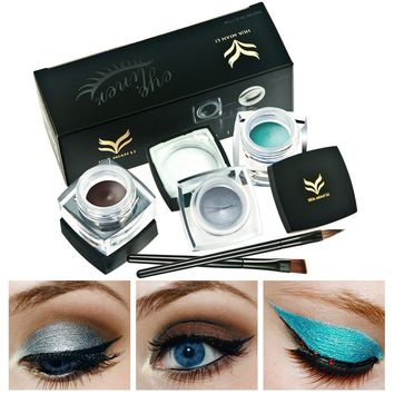 2Pcs Brush Long-lasting Professional Eye Liner