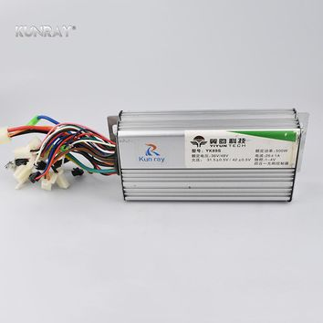 YK89S 36V/48V 500W 26A Brushless DC Motor Controller Electric Bike Scooter E-Car Tricycle Part 120 Degree With Hall Reverse