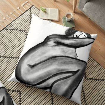 'Nude 10' Floor Pillow by BillOwenArt