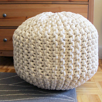 Giant Knit Pouf Footrest
