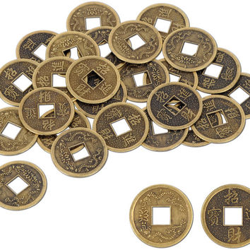 """asian authentic chinese good luck coins - 1"""" Case of 12"""