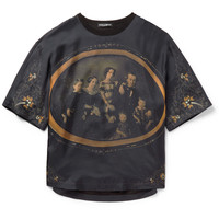 Dolce & Gabbana - Printed Silk-Satin T-Shirt | MR PORTER