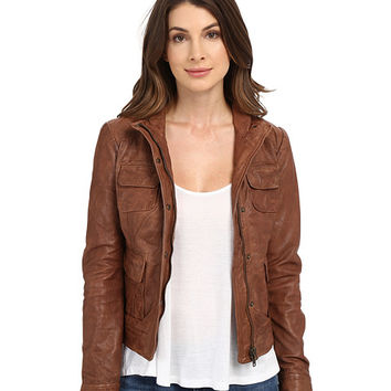 Lucky Brand Derby Leather Jacket