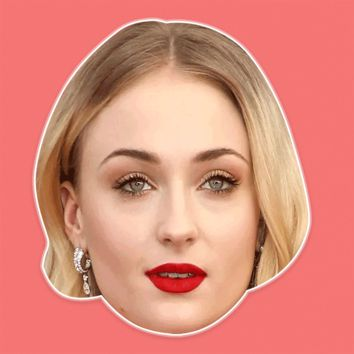 Neutral Sophie Turner Mask - Perfect for Halloween, Costume Party Mask, Masquerades, Parties, Festivals, Concerts - Jumbo Size Waterproof Laminated Mask