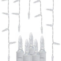 70 Cool White Icicles - Premium - LED Christmas Lights