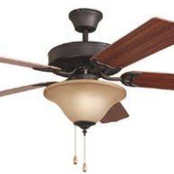 Bala® Dual Mount Ceiling Fan With Bowl Light Kit, 52 In., Aged Bronze