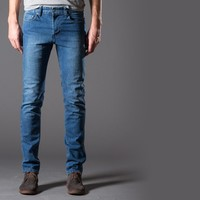 [Cult Logic] Skinny, Washed Jeans in Light Vintage