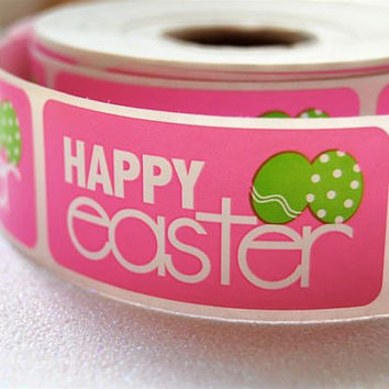 Happy Easter Bakery Label Stickers (25)