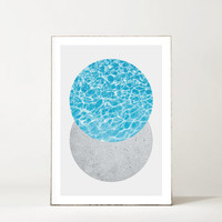 Concrete And Swimming Pool Minimalist Circles Print
