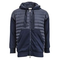 Moncler Maglia Cardigan with Hood (Medium, Navy)
