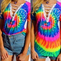 Tie Dye Ms. Melty Lace Up