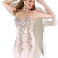 Sleeveless Boat Neckline Short Mini Prom Dress By Hannah S 27899