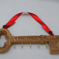 Harry Potter Inspired, Alohomora Key Hanger, Solid Alder