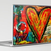 Yellow Heart of Love Laptop & iPad Skin by kathleentennant | Society6